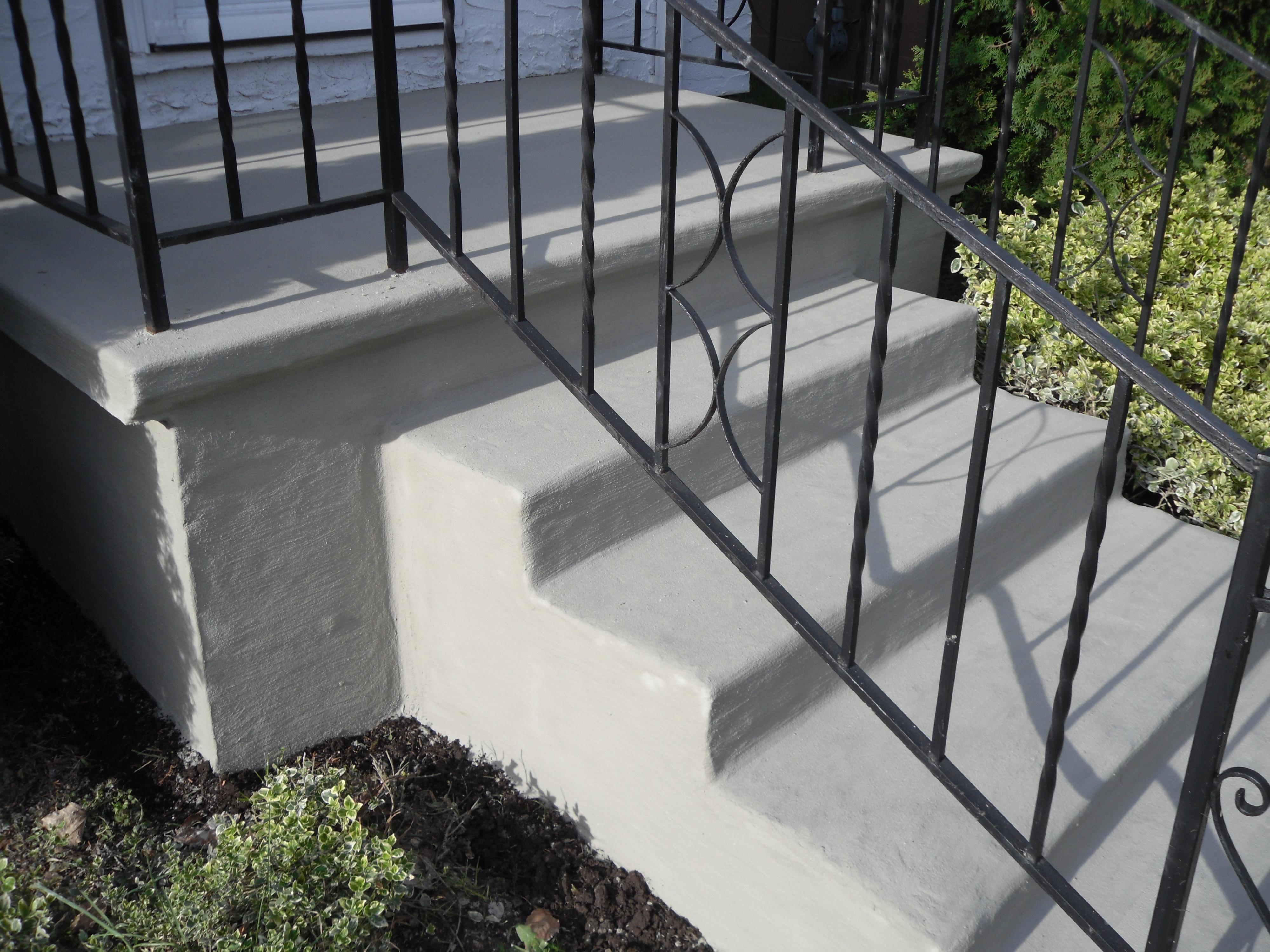 Stair resurfacing tybo concrete coatings repair - Resurfacing exterior concrete stairs ...
