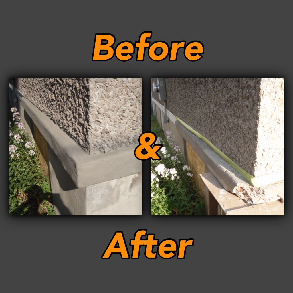 Before Amp After Porch Resurfacing Tybo Concrete Coatings