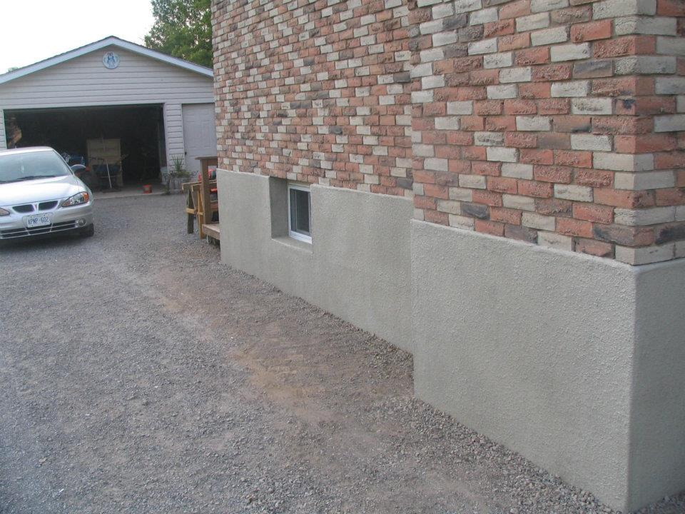 Parging Wall Coatings Foundation Repair Tybo Concrete